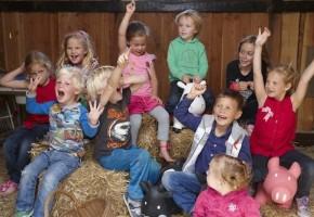 kinderfeestje op de boerderij